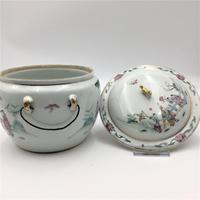 Chinese Famille Rose Pot with Lid and Stand (8 of 8)