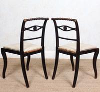 4 Regency Ebonised Dining Chairs Trafalgar (11 of 12)