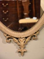 19th Century Oval Painted Mirror (3 of 3)