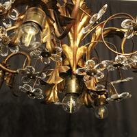 Italian Gilded Florentine 5 Light Plaffonier (10 of 10)