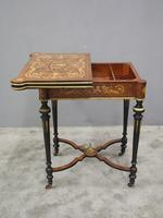 Louis XV Style French Marquetry Games / Side Table (14 of 15)