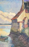 Oil of Loire Scene (2 of 3)