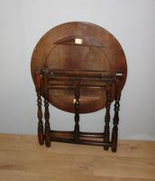 Folding Oak Victorian Table (3 of 6)