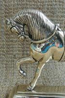 Fine Pair of Victorian Cast Brass Horse Hearth Ornaments Door Stop Door Porter (2 of 7)
