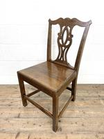 Set of Four Country Oak Dining Chairs (9 of 10)