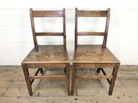 Two Similar 19th Century Oak Bar Back Farmhouse Chairs (2 of 10)