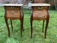 Pair of marquetry bedside tables (2 of 5)
