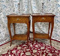 Pair of French Parquetry / Marquetry Side Tables (20 of 20)