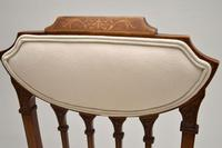 Pair of Antique Edwardian Inlaid Mahogany Side Chairs (6 of 10)