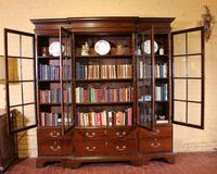 Four Doors Breakfront Bookcase In Mahogany - Early 19th Century (5 of 11)