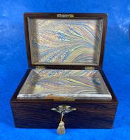 Victorian Rosewood Jewellery Box with Mother of Pearl & Abalone Escutcheons (11 of 14)