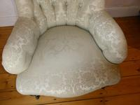 19th Century Upholstered Arm Chair (4 of 10)