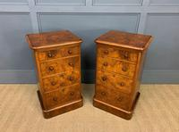 Pair of Burr Walnut Bedside Chest by Heal and Son (10 of 16)