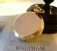 Antique Pocket Watch 1909 Waltham USA 7 Jewel 10ct Gold Filled Fwo (6 of 11)