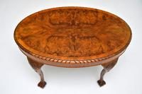 Antique Burr Walnut Oval Coffee Table (5 of 8)