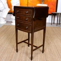 Chest of Drawers Mahogany Bowfront Drop Leaf 19th Century Petite (9 of 11)