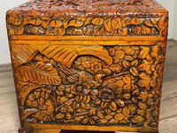 Chinese Camphor Wood Carved Birds & Flowers Chest Coffee Table (31 of 34)