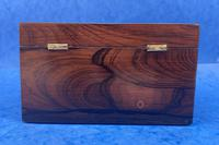 William IV Rosewood Twin Section Tea Caddy with Mother of Pearl Inlay (6 of 14)