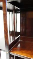 Good quality,  Edwardian inlaid Walnut 2 tier revolving bookcase (12 of 21)