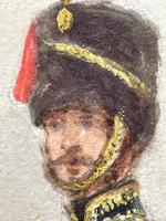 Military Watercolour Prince of Wales Own 10th Royal Hussars Guard on Horseback by Henry Martens c.1850 (18 of 53)