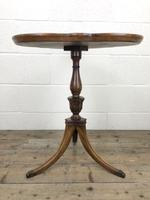 Antique Mahogany Tripod Side Table (3 of 9)