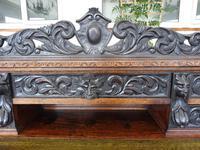 Country Oak Lions Head Pedestal Desk 1850 W M Richardson Ltd (10 of 12)
