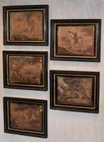 Set of Five Victorian Hunting Prints After Morland
