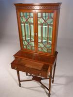 Elegant Edwardian Period Display Cabinet / Bookcase (4 of 5)