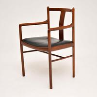 Danish Vintage Rosewood & Leather Armchair / Desk Chair (6 of 12)