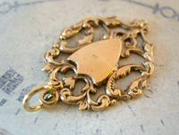 Antique Pocket Watch Chain Fob 1890s Victorian 12ct Rose Gold Filled Shield Fob (3 of 6)