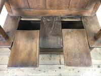 Small Antique Oak & Fruitwood Box Settle (5 of 12)