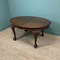 Edwardian Walnut Wind-out Extending Antique Dining Table (6 of 9)