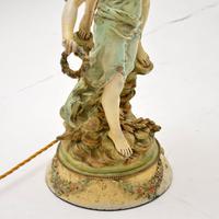 Antique Art Nouveau Table Lamp by L & F Moreau (8 of 10)