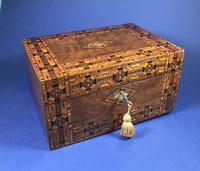 Victorian Walnut Tunbridge Ware Inlaid Jewellery Box (10 of 11)