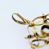 Antique Aquamarine Paste & Pearl 9ct Yellow Gold Lavalier Pendant (7 of 8)