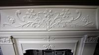 Small antique painted cast iron fire surround (5 of 5)