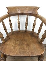 19th Century Beech and Elm Smoker's Bow Chair (10 of 12)