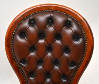 Victorian Style Leather Spoon Back Chair (4 of 9)