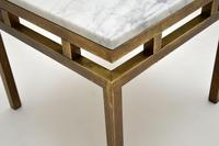 Vintage Italian Solid Brass & Marble Coffee / Side Table (7 of 7)