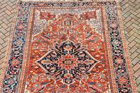Antique Heriz roomsize carpet 347x246cm (7 of 9)