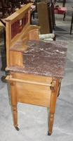 Satin Walnut Marble Top Washstand - 1920s (4 of 4)