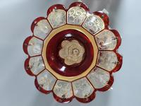 Magnificent Pair of Mid 19th Century Candle Lustres 'Possibly Baccarat' Gilded & Ruby Decoration (9 of 18)