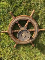 Oak & Brass Ships Wheel (3 of 11)