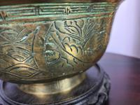 Large & Heavy Chinese Brass Bowl (4 of 6)