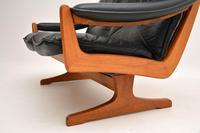 1970's Vintage Teak & Leather Sofa by Soda Galvano (8 of 10)