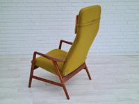 Alf Svensson, 60s, Armchair Model Kontur, Completely Restored, Furniture Wool (6 of 16)