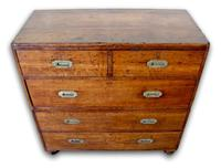 19th Century Oak Campaign Chest of Drawers (4 of 7)