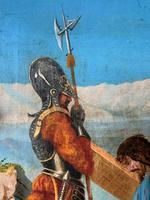 Lovely 19th Century Religious Old Master Christ & Cross Oil Painting - Set 14 Available (9 of 19)