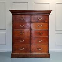 Large Antique Bank of Mahogany Drawers c.1880 (8 of 8)