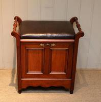 Edwardian Walnut Piano Stool (3 of 9)